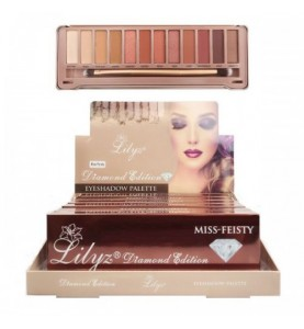 Lilyz 12 Colours Diamond Edition Eyeshadow Palette Miss-Feisty