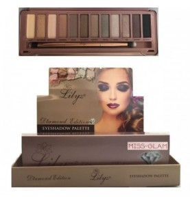 Lilyz 12 Colours Diamond Edition Eyeshadow Palette Miss-Glam