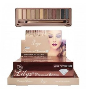 Lilyz 12 Colours Diamond Eyeshadow Palette-Miss Passionate