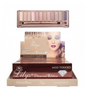 Lilyz 12 Colours Diamond Edition Eyeshadow Palette Miss-Terious