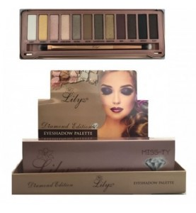Lilyz 12 Colours Diamond Eyeshadow Palette Miss-Ty